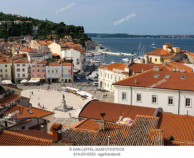 Slovenia Coast City of Piran View from St George Church