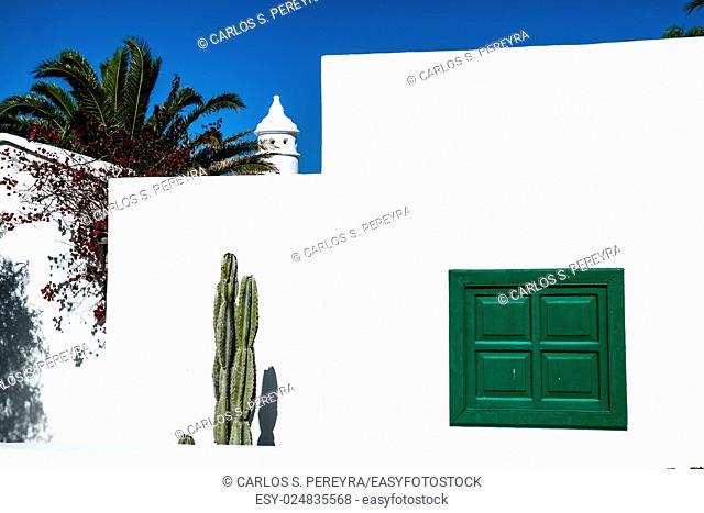 Traditional architecture in Lanzarote, Canary Islands, Spain