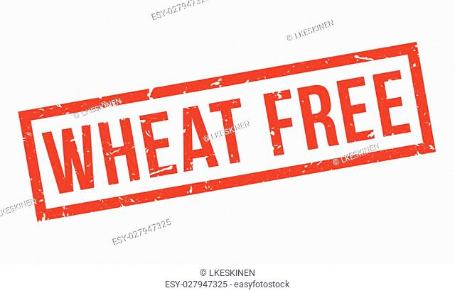 Wheat Free rubber stamp on white. Print, impress, overprint