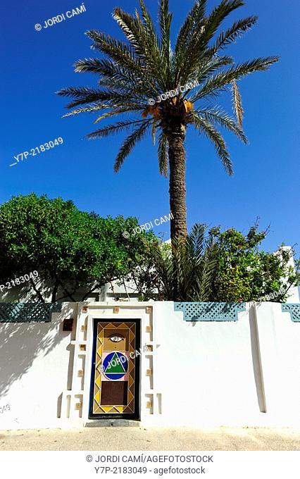 House entrance . Sidi Ifni. Morocco .North Africa