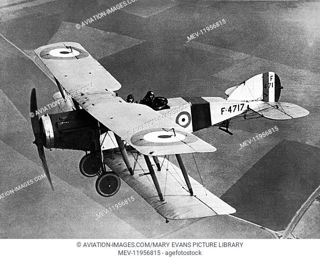 Uk Royal Airforce 2 Squadron Bristol F2B Fighter Aircraft Flying Near it's Manston, UK Base