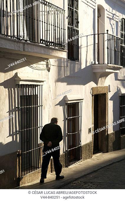 Vasco Nuñez de Balboa street, Jerez de los Caballeros. Badajoz province, Extremadura, Spain