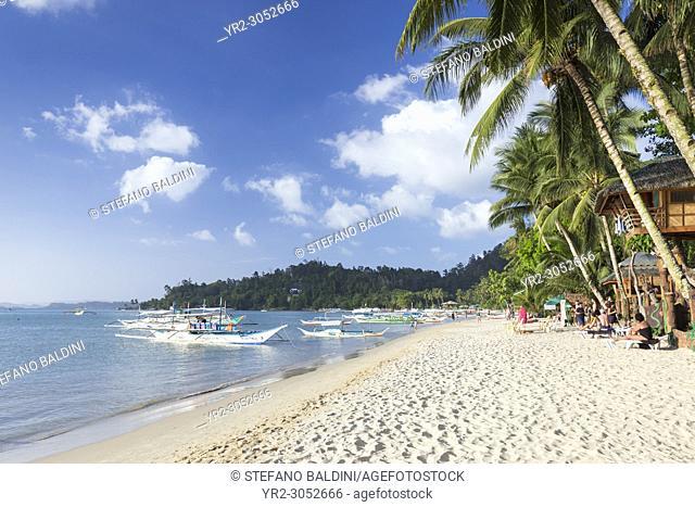 Port Barton beach, Palawan island, Philippines