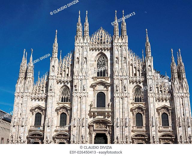 Duomo di Milano gothic cathedral church in Milan, Italy