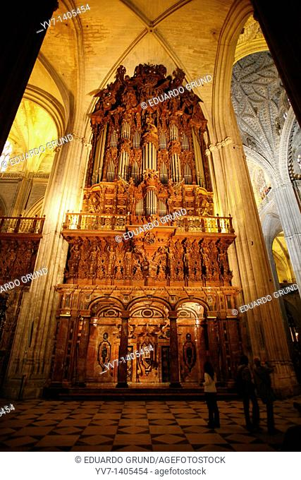 Interior of The Giralda Sevilla, Andalusia, Spain