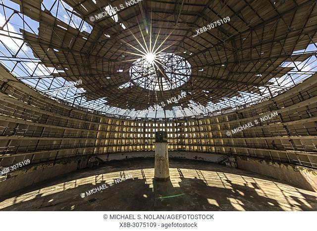 Interior view of the Presidio Modelo, Model Prison, built in the late 1920's on Isla de la Juventud, Cuba