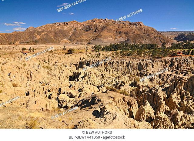 Bolivia, Moon Valley, Valle de La Luna, Rock Formation caused by Erosion, Located on the Outskirts of La Paz