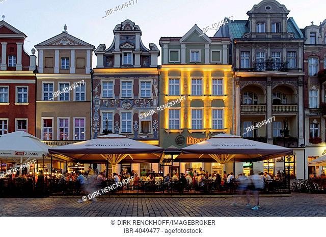 Buildings on the market square, Stary Rynek, Poznan, Greater Poland Voivodeship, Województwo wielkopolskie, Poland