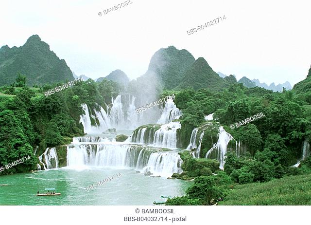 Detian waterfall, Daxin County, Nanning City, Guangxi Zhuang Nationality Autonomous Region of People's Republic of China