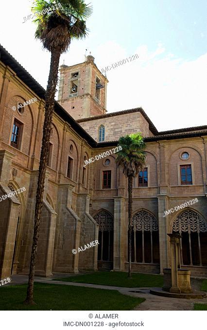 Spain, La Rioja, Najera, Santa Maria la Real monastery, cloister of the knights