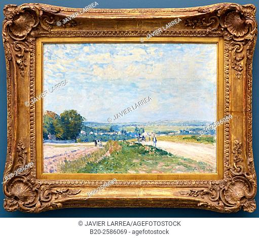 The Road to Montbuisson at Louveciennes, 1875 (oil on canvas), Sisley, Alfred (1839-99), Musee de L'Orangerie, Tuileries, Paris, France