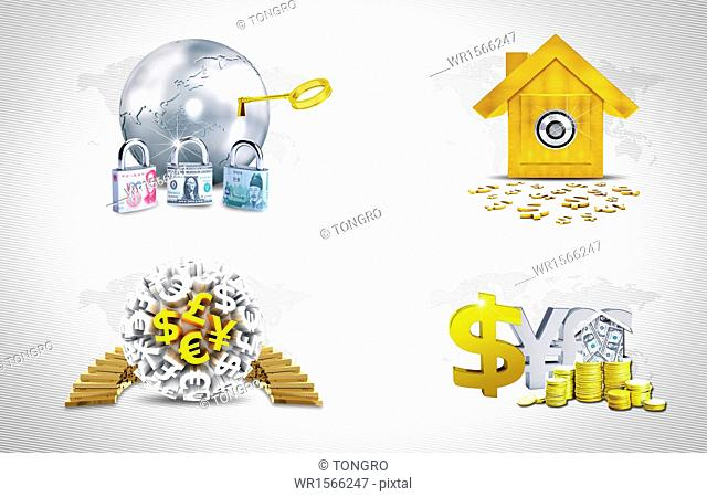 several items related to money and finance