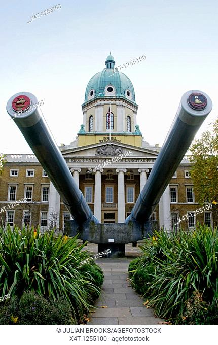The Imperial War Museum on Lambeth Road in London, UK
