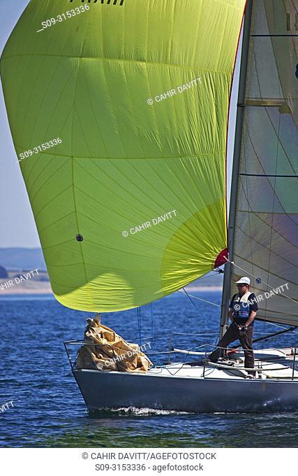 Ireland, Wicklow Arklow, Ferrybank, competing in the Met Masts Sailing Race 31/05/09