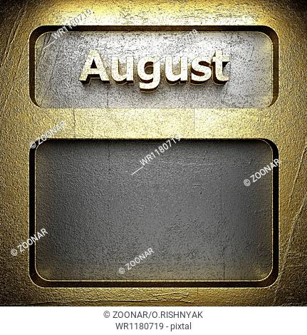 august golden sign