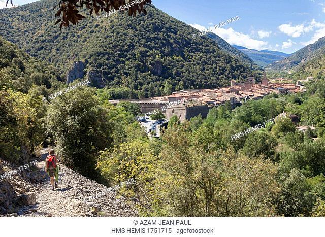 France, Pyrenees Orientales, Villefranche de Conflent, labelled Les Plus Beaux Villages de France (The Most Beautiful Villages of France)