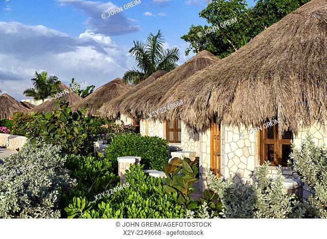 The Spa Retreat boutique hotel cottages with thatched roof