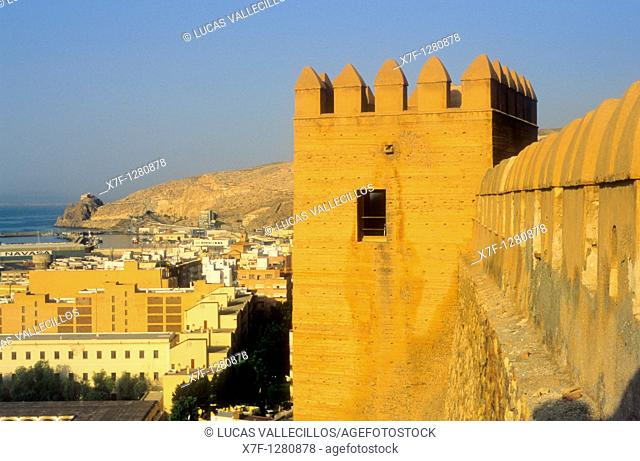 west of the city from the Alcazaba Almeria  Andalucia, Spain
