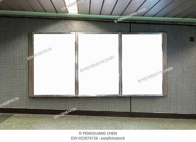 blank board on wall