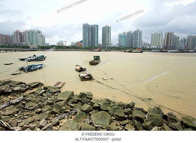 Boats on water, Shandong province, China