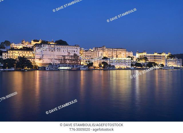 The majestic City Palace on Lake Pichola, Udaipur, Rajasthan, India