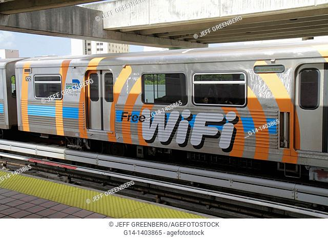 Florida, Miami, Metrorail Station, train, free WiFi, Internet access