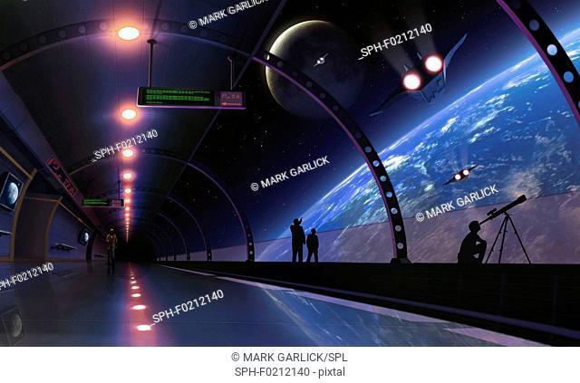 Space habitat, illustration