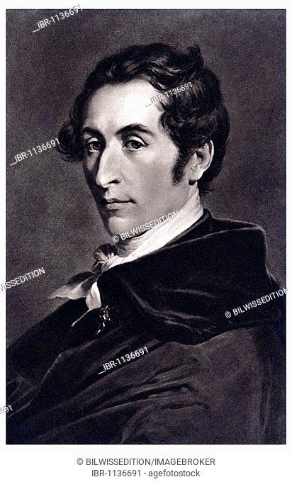 Historic portrait, Carl Maria von Weber