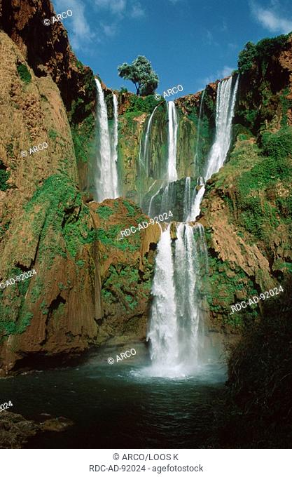 Waterfall 'Cascades d'Ouzoud', Middle Atlas, Morocco