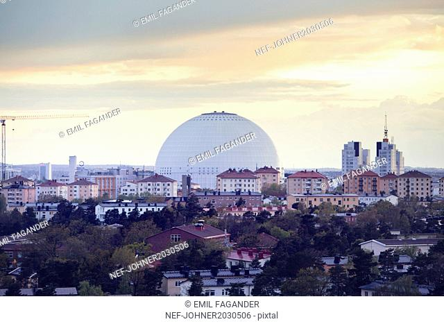 Cityscape with dome structure