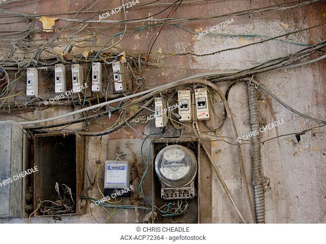 Electrical wiring detail, Havana, Cuba