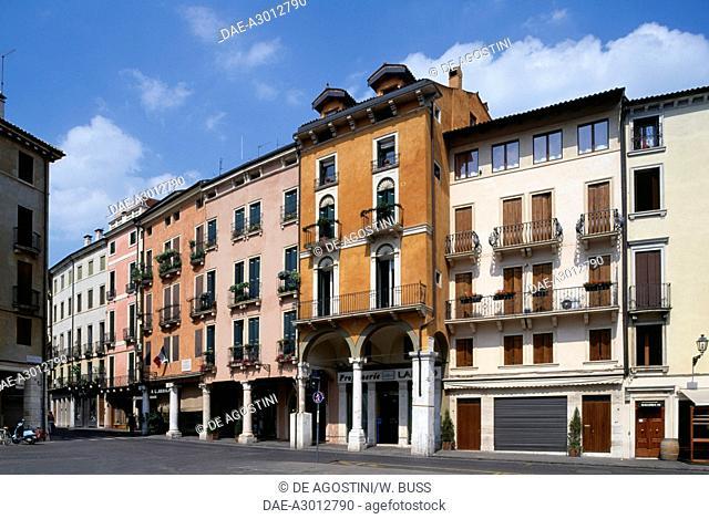 View of Piazza dei Signori, Vicenza (UNESCO World Heritage List, 1994, 1996), Veneto, Italy