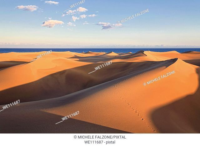Canary Islands, Gran Canaria, Playa del Ingles, Maspalomas Sand Dunes National Park