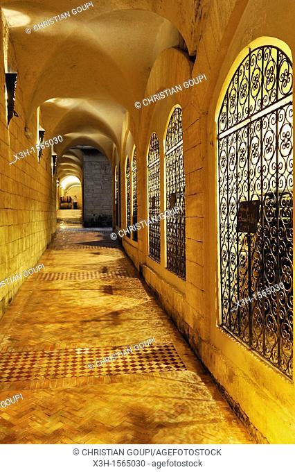 prestige wine store, Chateau Roslane, Les Celliers de Meknes vineyard, Middle Atlas, Morocco, North Africa