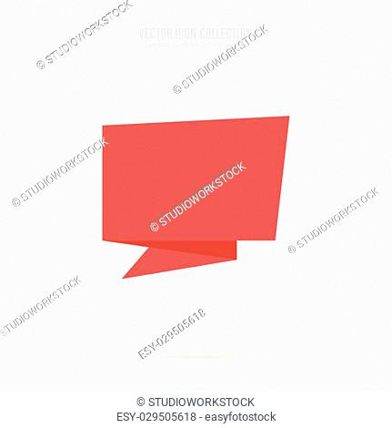 Sticker isolated vector in flat design style. Colorful abstract badge or label. Origami style