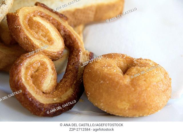 Donut and palmier pastry