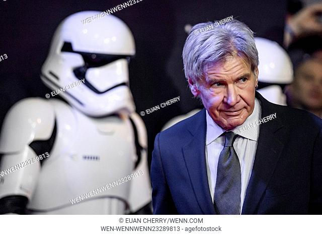 Star Wars: The Force Awakens - European film premiere Featuring: Harrison Ford Where: London, United Kingdom When: 16 Dec 2015 Credit: Euan Cherry/WENN
