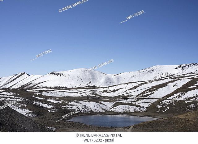 The Sun crater Lake at the Nevado de Toluca, Mexico