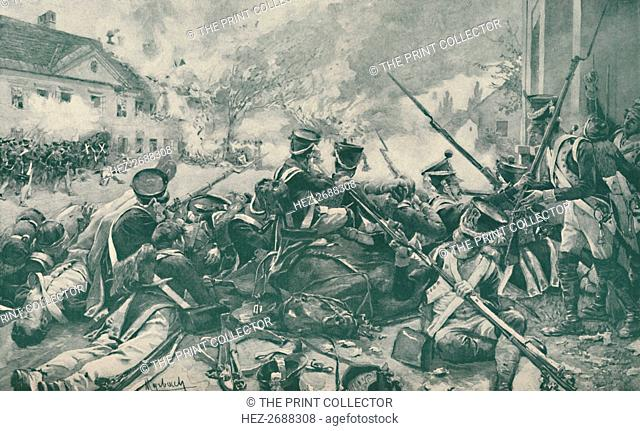 'Fighting In The Streets of Essling', 1809, (1896). Artist: Unknown