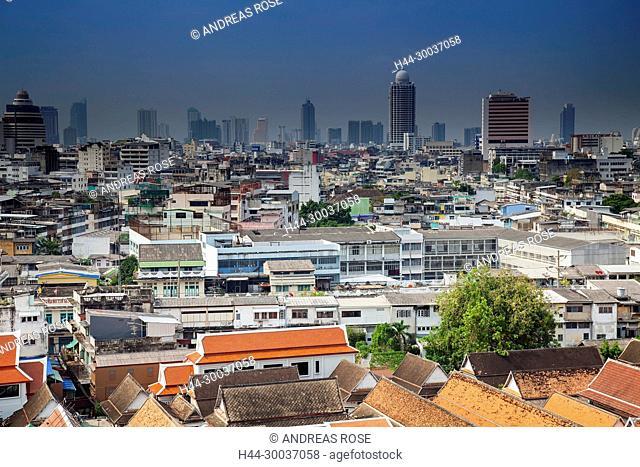Skyline of Bangkok , Thailand, Asia