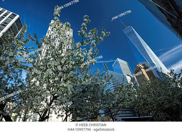 USA, East Coast, New York, Lower Manhattan, One World Trade Center