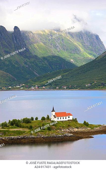 Sildpollen church, Lofoten islands, Norway