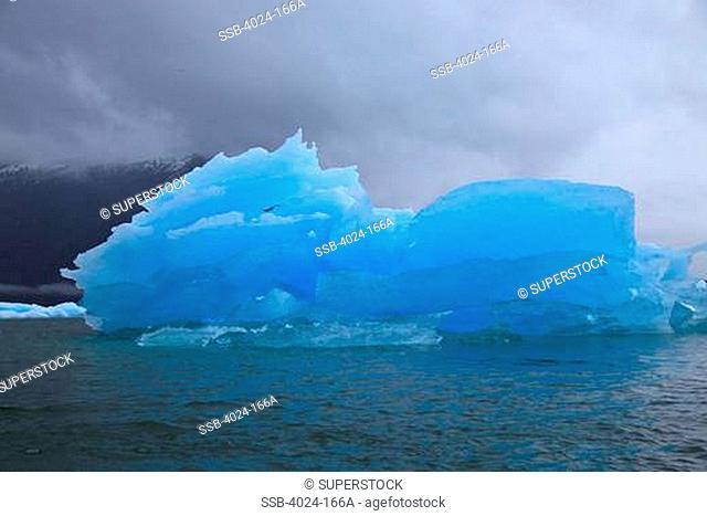 Glacier in the ocean, LeConte Glacier, Inside Passage, Alaska, USA