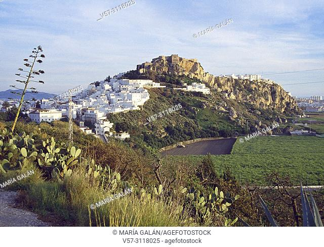 Overview. Salobreña, Granada province, Andalucia, Spain
