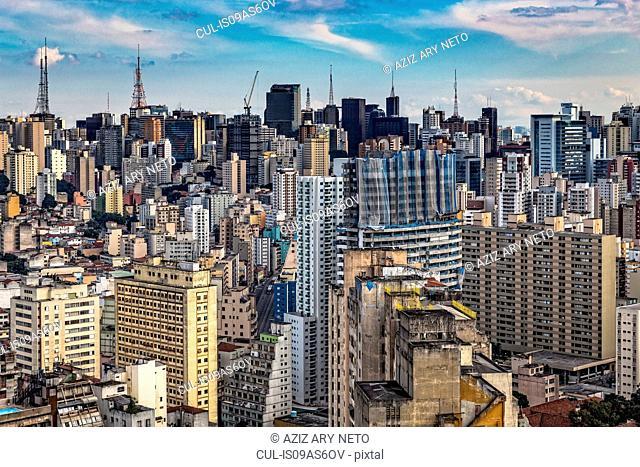 View of skyscrapers and skyline, Sao Paulo, Brazil