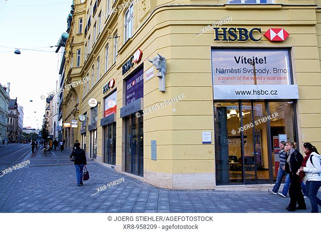 HSBC, Svobody Place, Brno, Czech Republic