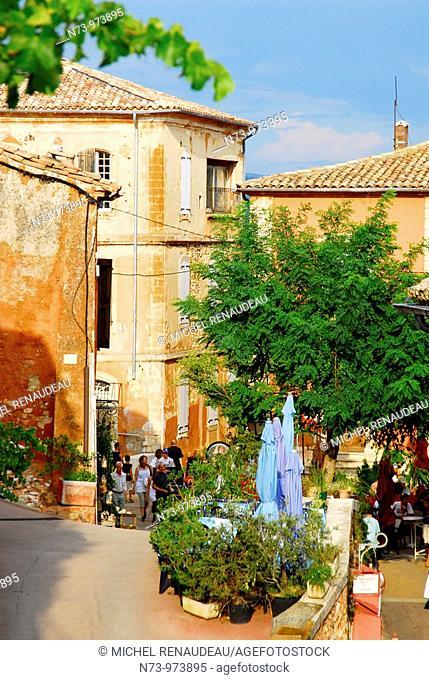 France, Vaucluse , Village de Roussillon