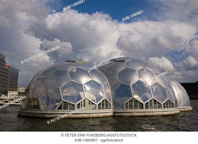Drijvend Paviljoen the floating science museum pavilion Kop van Zuid district Rotterdam the Netherlands Europe