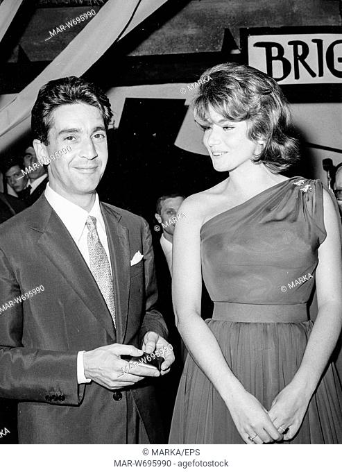 franco cristaldi, sylva koscina, roma, 1961
