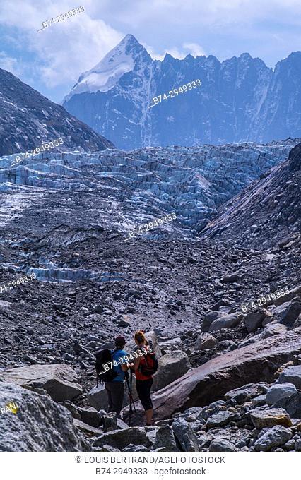 glacier of argentiere, chamonix, haute savoie, france